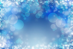 Abstract Winter background abstract bokeh Royalty Free Stock Photo