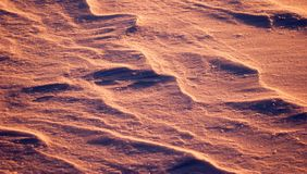 Abstract winter background, beautiful and unusual snow texture,. Snow drifts Stock Photos