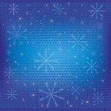 Abstract winter background blue Stock Images