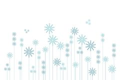 Abstract winter background of blue snow-flakes garden on white. Vector illustration Royalty Free Stock Photo