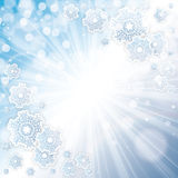 Abstract winter background. Abstract winter blue snowflakes background Stock Images