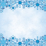 Abstract winter background. Abstract winter blue snowflakes background Royalty Free Stock Photo