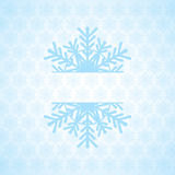 Abstract winter background. Abstract winter blue white snowflakes background Stock Image