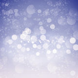 Abstract Winter background  bokeh Royalty Free Stock Image