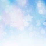 Abstract Winter background. Abstract bokeh Stock Image