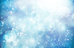 Abstract Winter background.Christmas. Abstract art backdrops background blink blue bokeh vector illustration