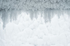 Abstract winter background with frost and snow for design Royalty Free Stock Image