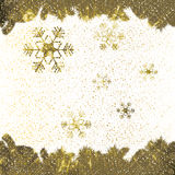 Abstract winter background. Abstract winter golden snowflakes background Royalty Free Stock Image