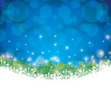 Abstract winter background. Abstract winter green pine snowflakes background Stock Photography