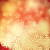 Abstract winter background. Abstract winter red blurry snowflakes background Royalty Free Stock Photos