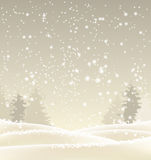 Abstract winter background in sepia tone Royalty Free Stock Images