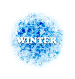 Abstract Winter Background with Set Snowflakes Stock Photo