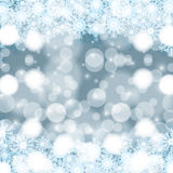 Abstract winter background. Abstract winter silver blue snowflakes background Royalty Free Stock Photography