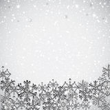 Abstract winter background. Abstract winter silver snowflakes background Royalty Free Stock Photos