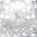 Abstract winter background. Abstract winter silver snowflakes background Stock Photography