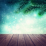 Abstract winter background. With snow Royalty Free Stock Photography