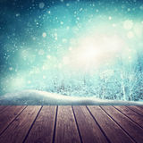 Abstract winter background. With snow Royalty Free Stock Image