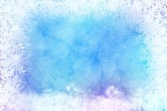Abstract winter background with snowflake frame. Blue abstract winter background with snowflake frame vector illustration