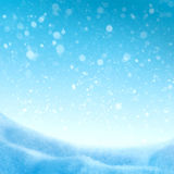 Abstract winter background. With snowflakes Stock Images