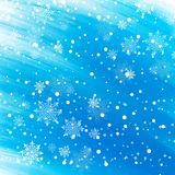 Abstract winter background with snowflakes. Vector Royalty Free Stock Photos