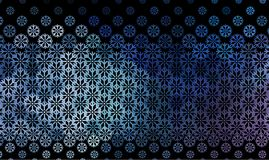 Abstract winter background with snowflakes. Royalty Free Stock Photo
