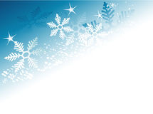 Abstract winter background with snowflakes Stock Photography
