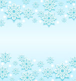 Abstract winter background with snowflakes Royalty Free Stock Image