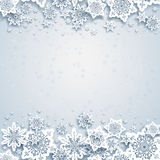 Abstract winter background with snowflakes. Place for text Stock Photography