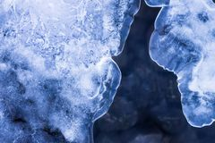 Abstract winter background. Abstract winter texture background. Water, snow and ice in nature pattern. Close up image Royalty Free Stock Photos