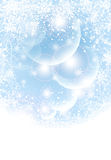 Abstract winter background with transparent balls, Stock Image