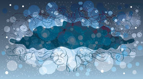 Abstract winter background, vector template Stock Photos