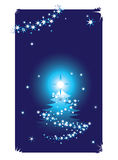 Abstract winter background wit. H christmas tree, illustration Royalty Free Stock Photos