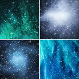 Abstract winter backgrounds Stock Image