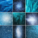 Abstract winter backgrounds Stock Images