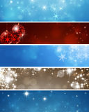 Abstract Winter Banners Stock Images