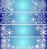 Abstract winter Banners. Royalty Free Stock Images