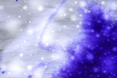 Abstract winter blue background with snowflakes Stock Photo
