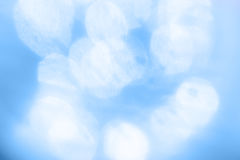Abstract Winter blue bokeh Stock Image