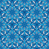 Abstract Winter Blue mandala background Royalty Free Stock Photography
