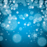 Abstract winter blue snowflakes Royalty Free Stock Image