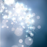 Abstract winter blue snowflakes Stock Image