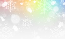 Abstract winter  blurred wallpaper with snowflakes. Abstract winter blurred wallpaper with snowflakes and colorful background. Vector illustration Stock Photography