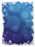 Abstract winter border background Royalty Free Stock Photos