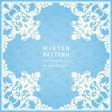 Abstract winter border with place for text. Royalty Free Stock Images
