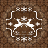 Abstract winter brown background Royalty Free Stock Image
