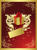 Abstract winter card with place for your text. Vector illustration in AI-EPS8 format stock illustration