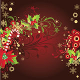 Abstract winter card with place for your text. Vector illustration in AI-EPS8 format royalty free illustration