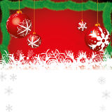 Abstract winter Christmas background. With ball Royalty Free Stock Photography
