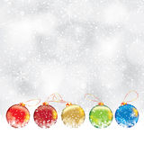 Abstract winter Christmas background Stock Image