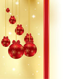 Abstract winter Christmas background. With ball Royalty Free Stock Image